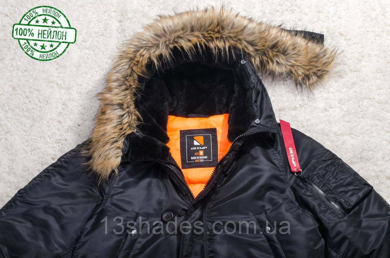 f65f08bf747 ... Color Куртка парка мужская Olymp с нашивками - Аляска N-3B