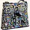 """Жіноча сумочка """"Загадка"""", з натуральної шкіри з ручним розписом"""