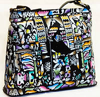 """Женская сумочка """"Загадка"""", из натуральной кожи с ручной росписью"""