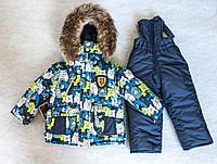 Зимний комбинезон костюм комплект для мальчика Мишка