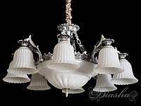 Люстра в античном стиле на 11 ламп 8292-8+3