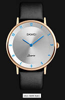 Мужские наручные часы SKMEI 1263 золотистый/голубой, фото 1