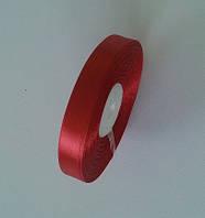 Лента атласная декоративная 1,6 см красная 50 ярд., фото 1