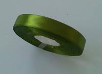 Лента атласная 1,6 см зеленая 50 ярд.