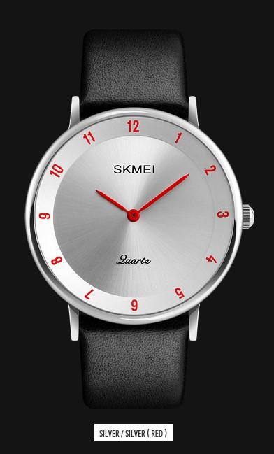 Мужские наручные часы SKMEI 1263 серебристый/красный