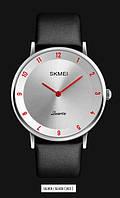 Мужские наручные часы SKMEI 1263 серебристый/красный, фото 1