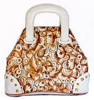 """Оригинальная женская сумочка """"Мозаика светлая"""", из натуральной кожи ручной работы"""