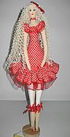 Кукла Тильда Платье в горошек, фото 1