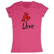 Женская футболка модная с принтом Любовная история