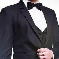Модный мужской пиджак черный, синий, угольный