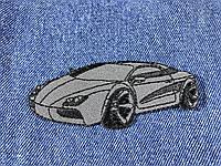 Нашивка спорт кар цвет серый 100х40 мм