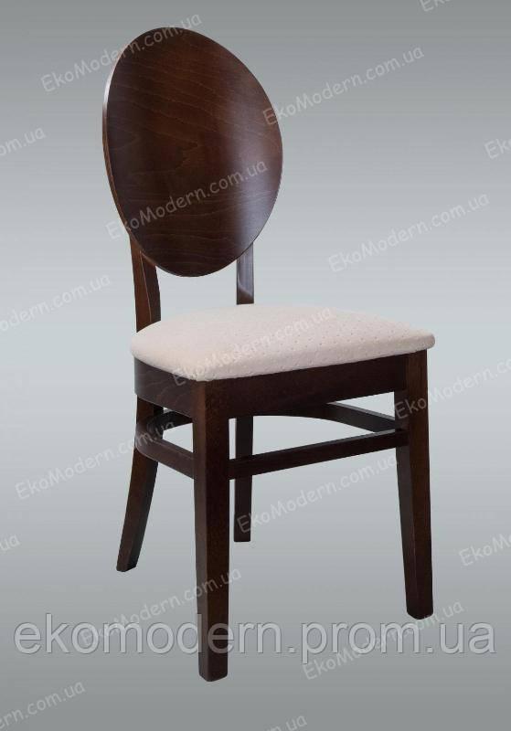 Стул мягкий деревянный ГЕНУЯ - Т+ с круглой (овальной) спинкой