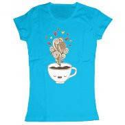 Женская футболка модная с принтом Sleeping cup