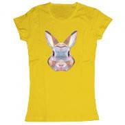 Женская футболка модная с принтом Кролик