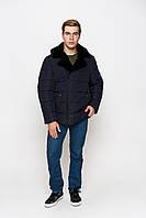Мужская зимняя куртка с классическим воротом из мутона