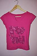 Трикотажная футболка подростковая со стразами