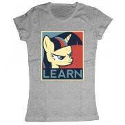 Женская футболка модная с принтом Learn