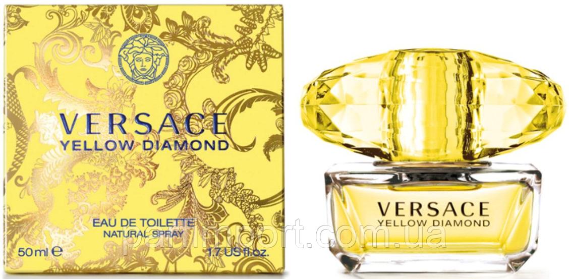 VERSACE Yellow Diamond EDT 50 ml  туалетная вода женская (оригинал подлинник  Италия)