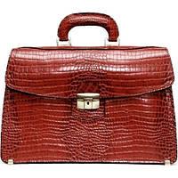 Женский кожаный портфель Manufatto ПД-1 коричневый