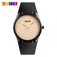 Мужские наручные часы SKMEI 1601S черный/бежевый, фото 1