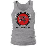 Майка мужская (спортивная) летняя с принтом Foo Fighters new logo