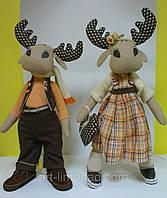 Игрушки Тильда Кукла Лось и его невеста, фото 1