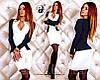 Платье №341 белый с синим  (ГЛ)