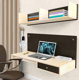 Навесной компьютерный стол R1 Kit Венге магия/ Дуб молочный (Comfy-Home ТМ)