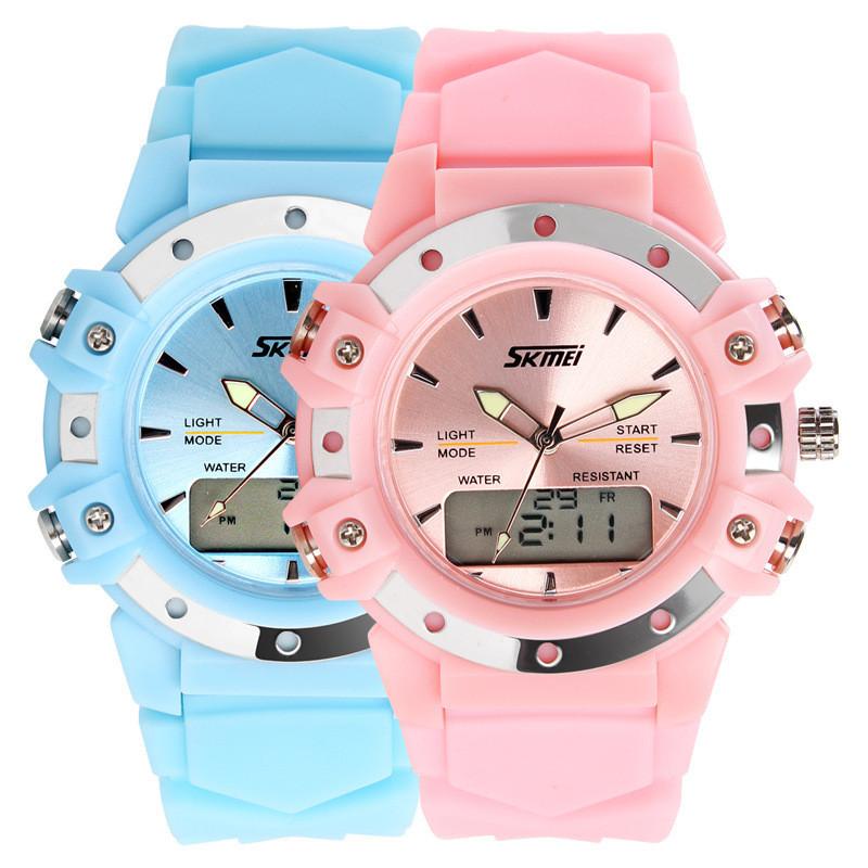 Детские наручные часы унисекс SKMEI 0821 светло розовые