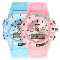 Детские наручные часы унисекс SKMEI 0821 светло розовые, фото 1