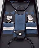 Мужские подтяжки Paolo Udini светло-синие, фото 3