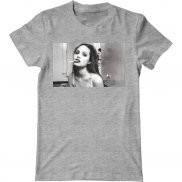 Мужская футболка летняя с принтом Angelina Jolie