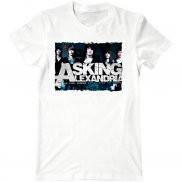 Мужская футболка модная с принтом Asking Alexandria