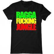 Мужская футболка модная с принтом Ragga Fucking Jungle