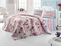 Постельное белье двуспальное евро LightHouse бязь голд FLOWER розовый 8698-02_2.0LH