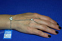 Слейв браслет из серебра Сердце и Ключ Бр-70