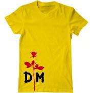 Мужская футболка модная с принтом Роза Депеш Мод