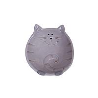 Котик Плошка 15 см сер.