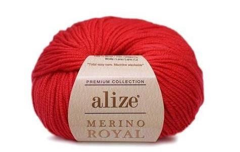 Турецкая пряжа Alize Merino royal (Ализе Мерино Роял) 100% Австралийская шерсть, 50 гр, 100 м