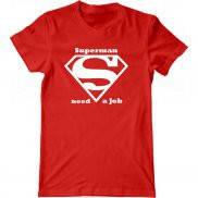 Мужская футболка модная с принтом Супермен ищет работу