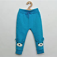 Штаны голубого цвета с начесом для детей