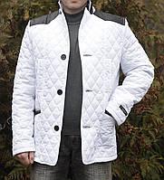 """Мужская куртка """" Баджо мэмори белый """""""