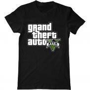 Мужская футболка модная с принтом gta 5 logo
