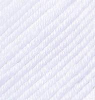 Турецкая пряжа Alize Merino Royal шерсть 100% белый №55