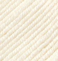 Турецкая пряжа Alize Merino Royal шерсть 100% молочный №62
