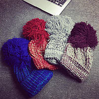 Яркая теплая шапка СС7909