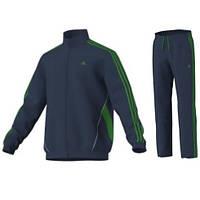 Синий мужской спортивный Adidas TRACKSUIT BASIC 3S ,5L, G81055