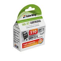 Картридж Canon PG-510Bk, Black, MP240/250/260/270/480/490, MX320/330, ColorWay (CW-CPG510)