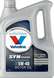 Синтетическое моторное масло Valvoline Syn power 5w-40 4L