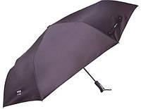 Сдержанный мужской зонт автомат с большим куполом ТРИ СЛОНА RE-E-740, цвет черный. Антиветир.